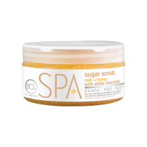BCL SPA MILK + HONEY WITH WHITE CHOCOLATE SUGAR SCRUB 8oz