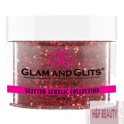 GLITTER ACRYLIC - GAC23 FIRE RED