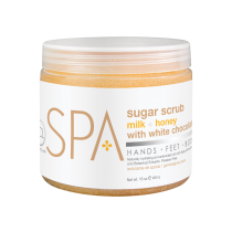 BCL SPA MILK + HONEY WITH WHITE CHOCOLATE SUGAR SCRUB 16OZ